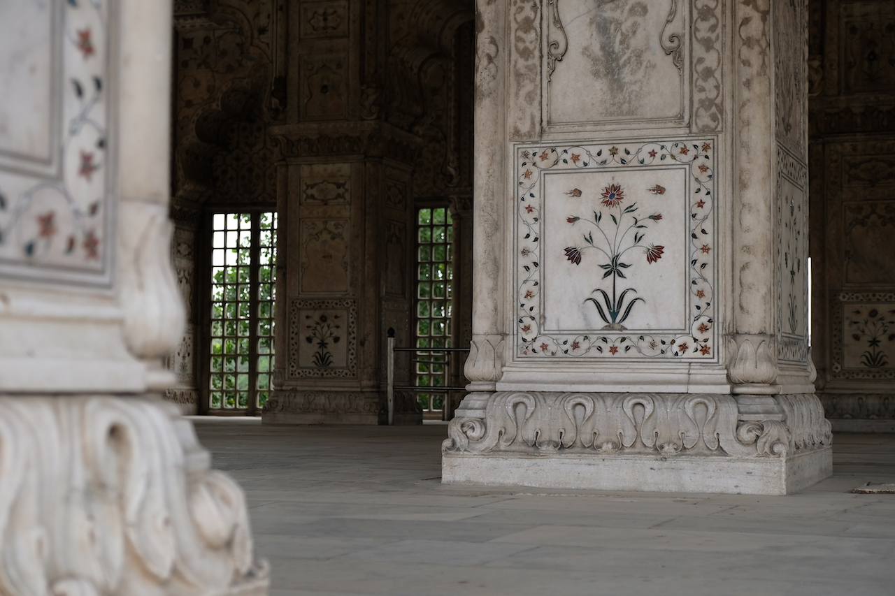 Intricate inlays, Red Fort