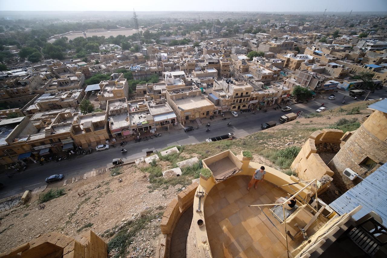 View over Jaisalmer from Desert Boys Guest House