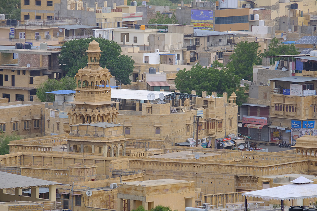 The architectural mix that is Jaisalmer