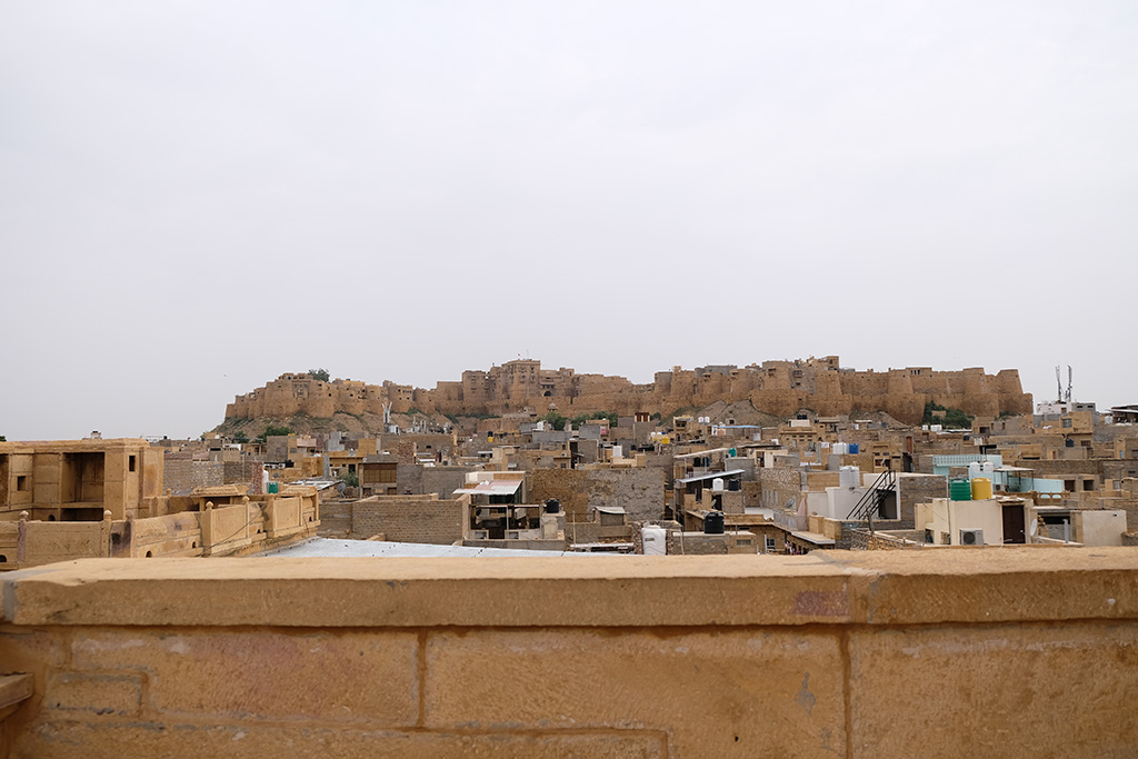 View of Jaisalmer Fort from roof of Patwon ki Haveli
