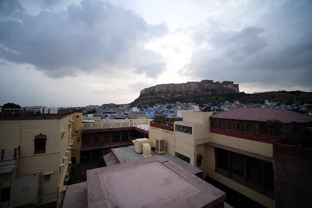 The View of Mehrangarh Fort from Indique Restaurant