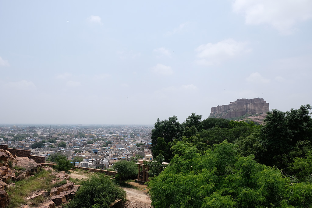 View of Mehrangarh Fort from Jaswant Thad