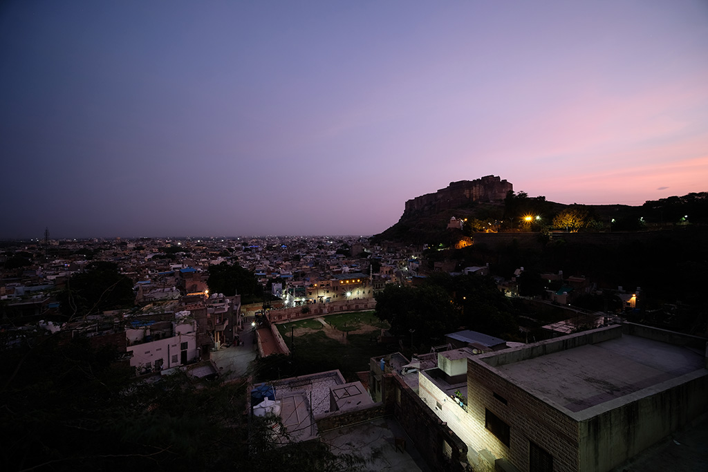 View over Jodhpur and across to Merangarh Fort