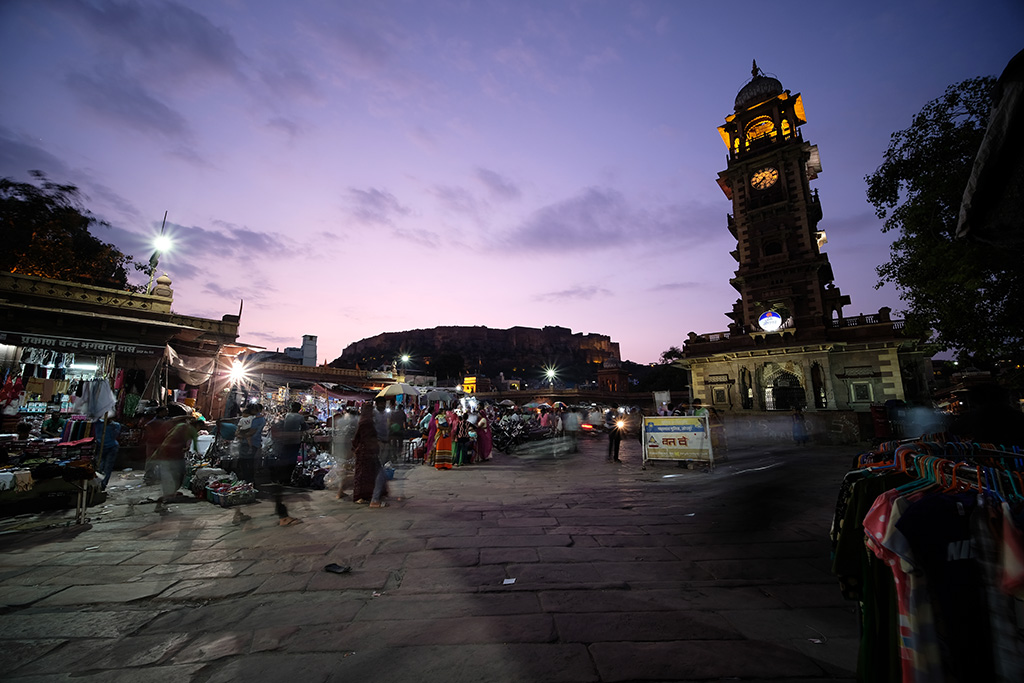 Twilight at the Clock Tower Market
