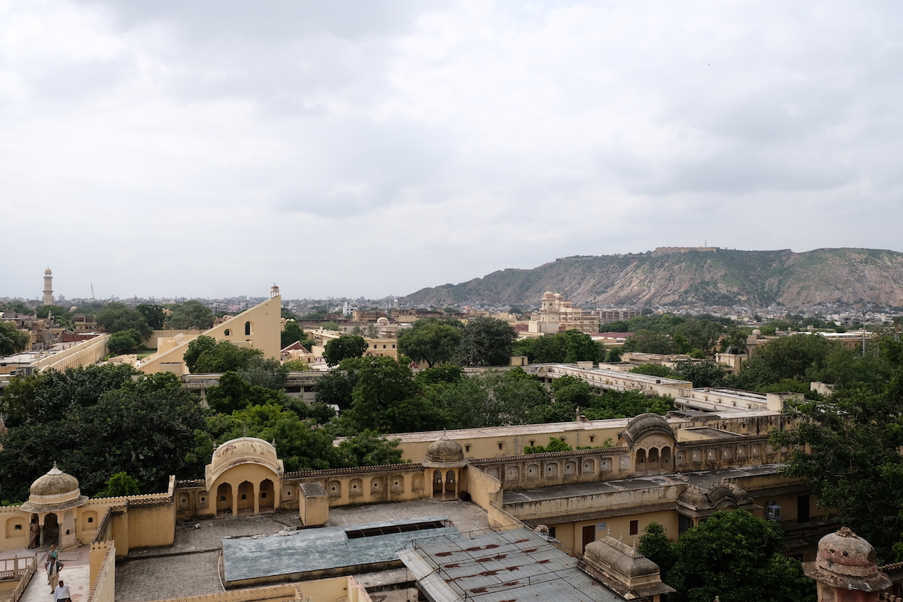 Looking to the City Palace and it's Jantar Mantar