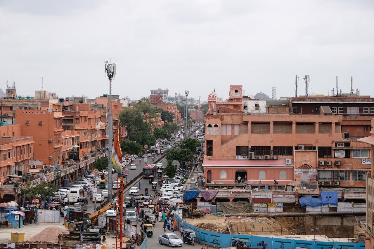 Jahari Bazaar Road and the new Metro Station works