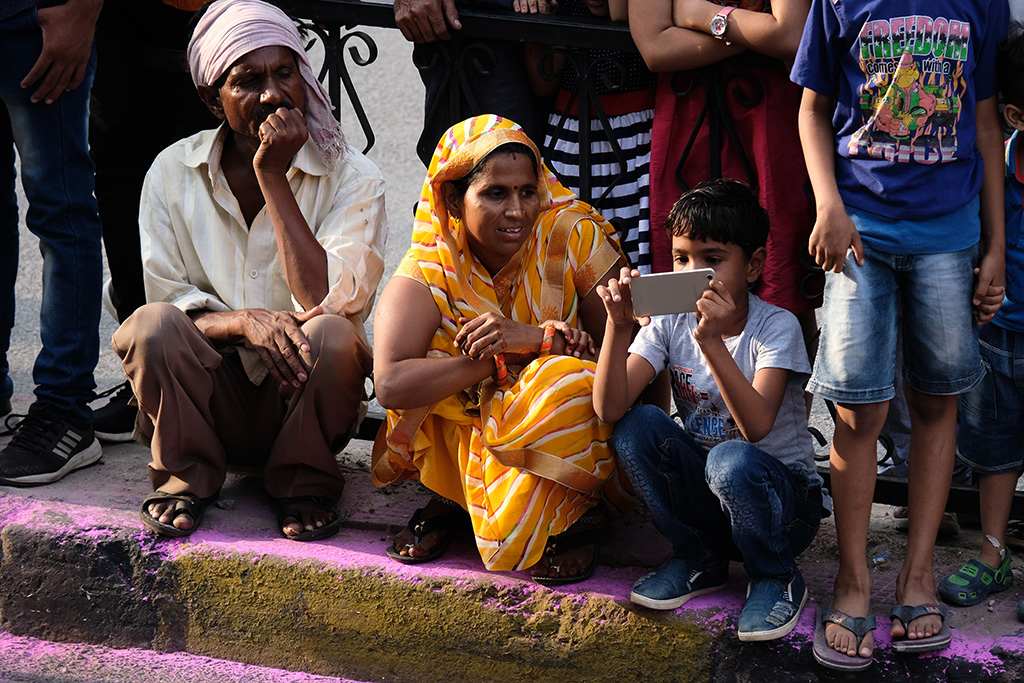 Waiting for the parade, Teej Festival