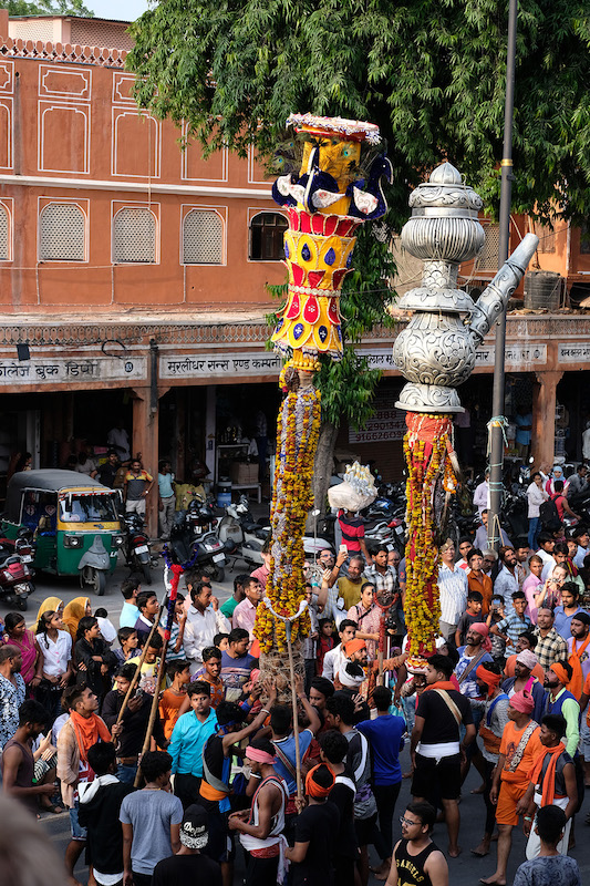 Pole balancing, Teej Festival