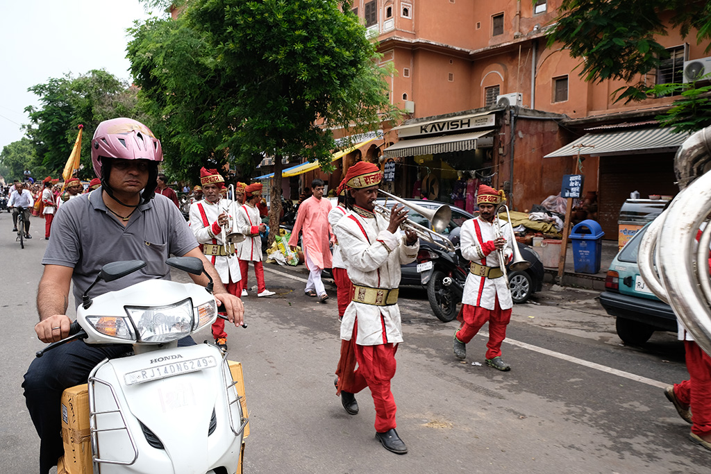 Sunder Band, Teej Parade practice, and traffic