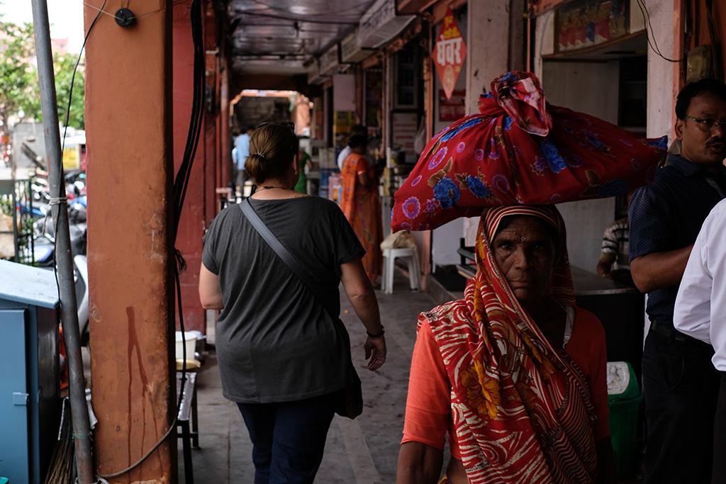 Blending in with the locals, Johari Bazaar