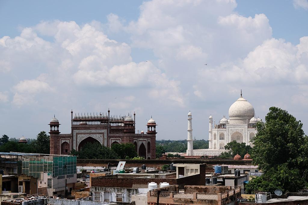 First view of Taj Mahal, Hotel Saniya