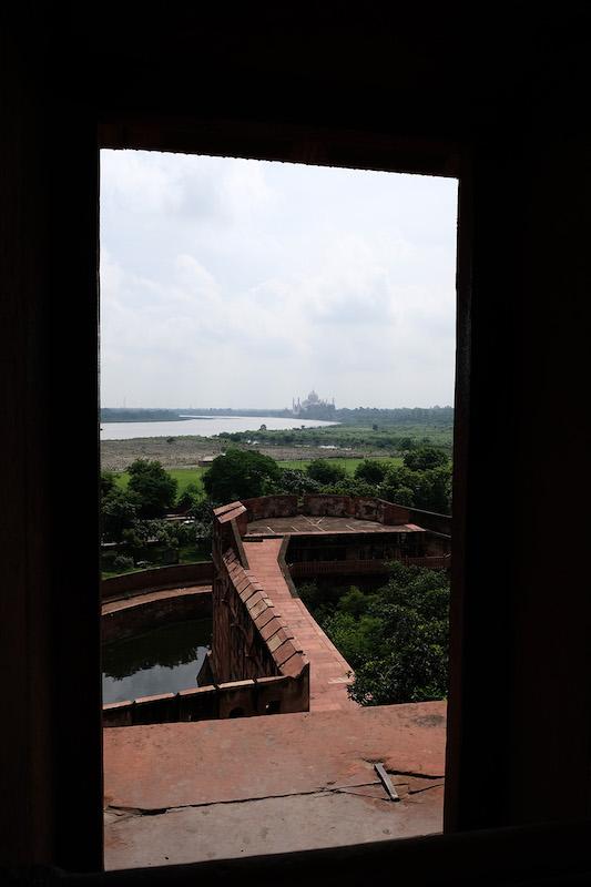 The Taj Mahal from Agra Fort