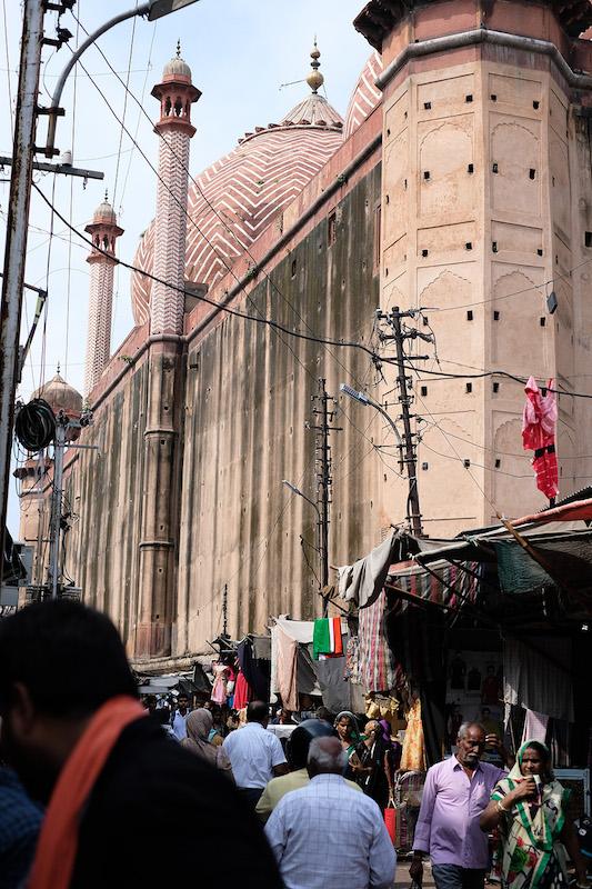 The back of the Jama Masjid mosque, Subhash Bazaar