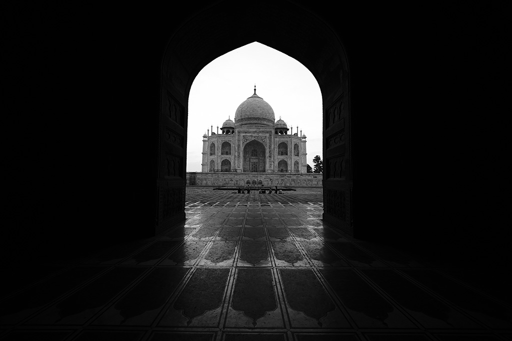 Framed by the mosque