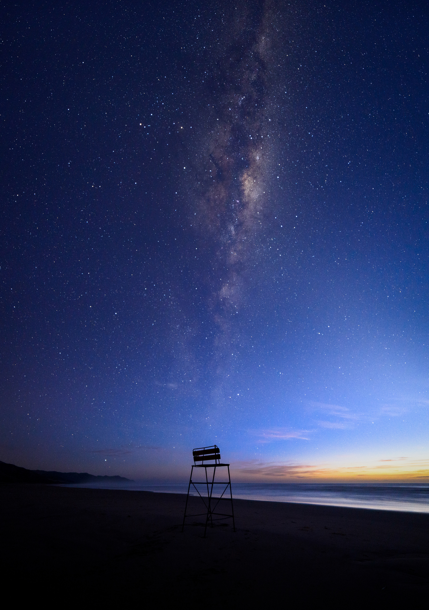 """Best seat in the Galaxy"", Ocean Beach"
