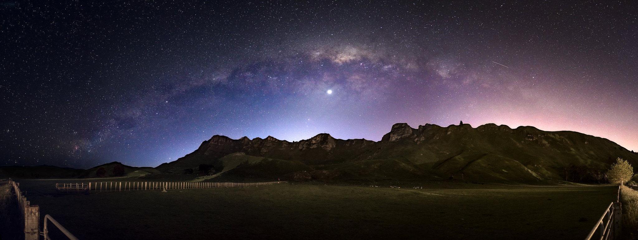 """Milky Way Arch over Te Mata Peak"""