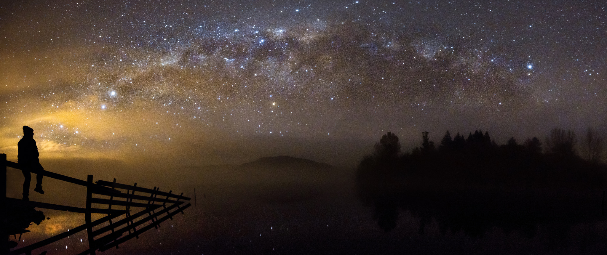 """""""Sitting on the outside looking in"""", Lake Tutira"""