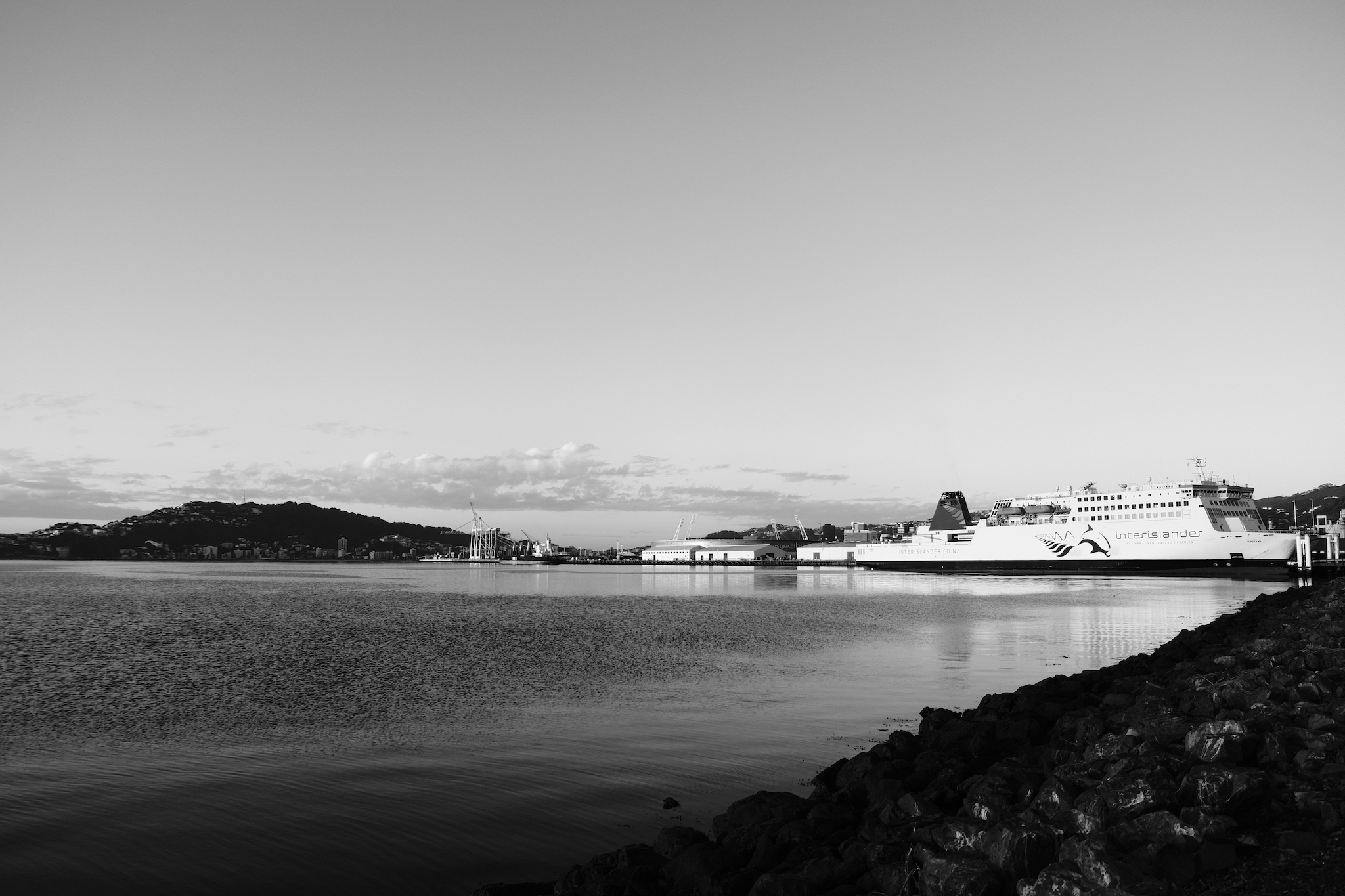 Our Ferry, the Kaitaki, at berth in Wellington