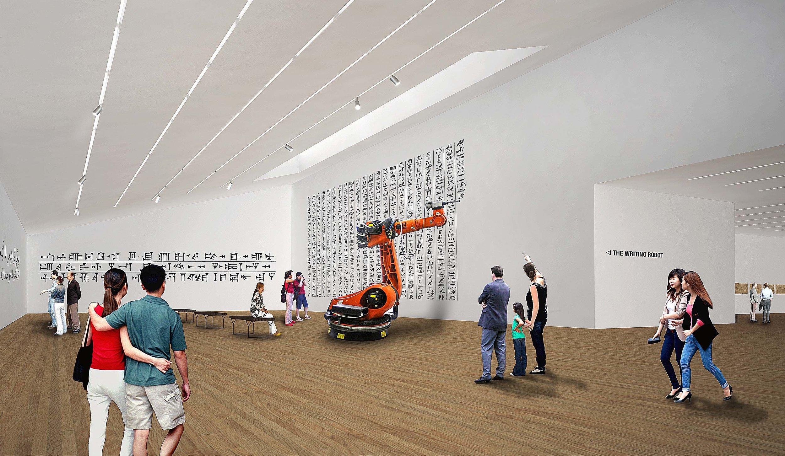 Permanent Exhibit  - 5-axis robot writing display