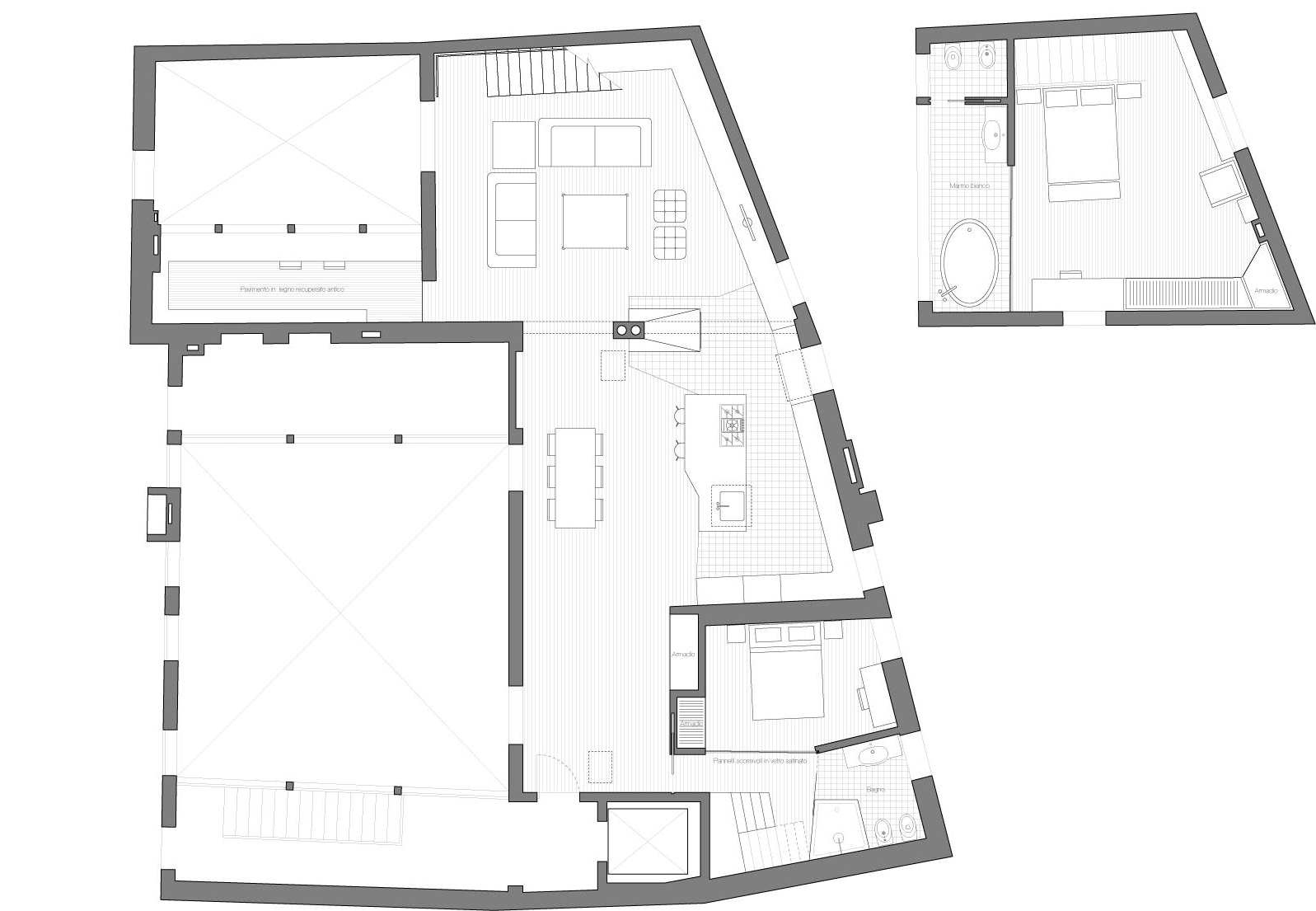 Plans  - Main level and Bedroom loft