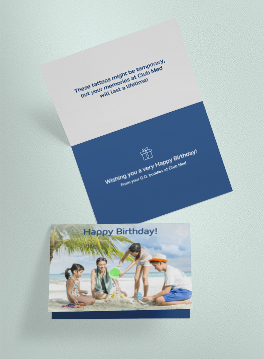 Birthday Mailer (With tattoo inserts)