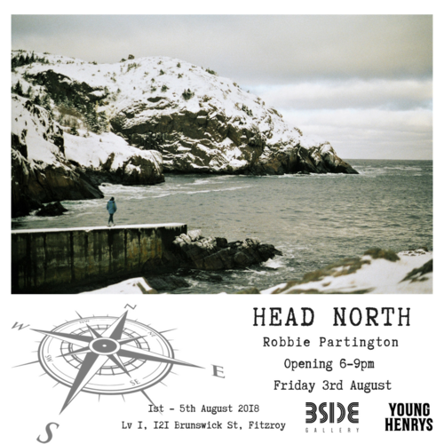 HEAD NORTHRobbie Partington - A photographic series by Robbie Partington compiled over two years of working and travelling throughout North America. This exhibition seeks to explore life in some of the most remote regions across this part of the globe, as well as that of some of the busier towns and cities he visited. Join us for the opening of Head North from 6-9pm on Friday the 3rd of August, proudly supported by Young Henrys!The exhibition runs from Wednesday 1st - Sunday 5th August 2018