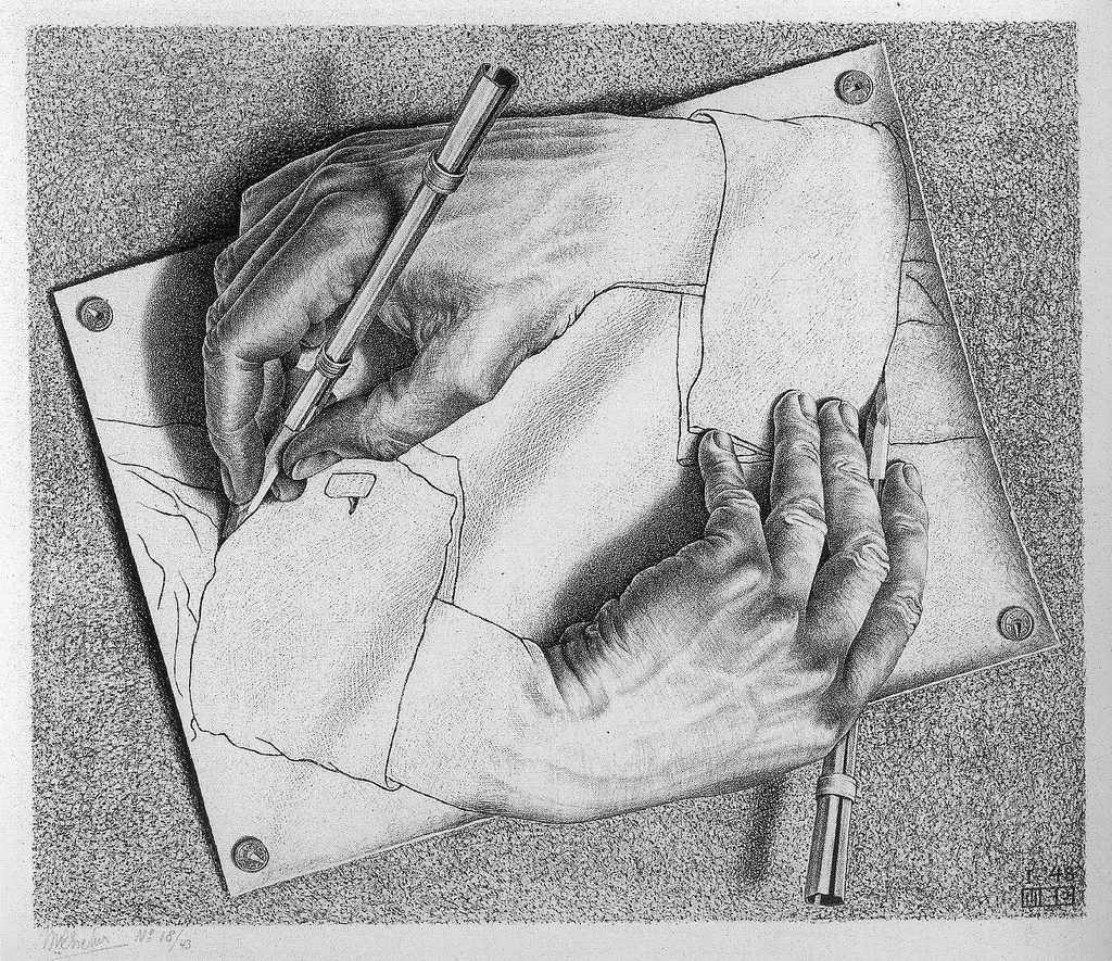 Drawing Hands MC Escher