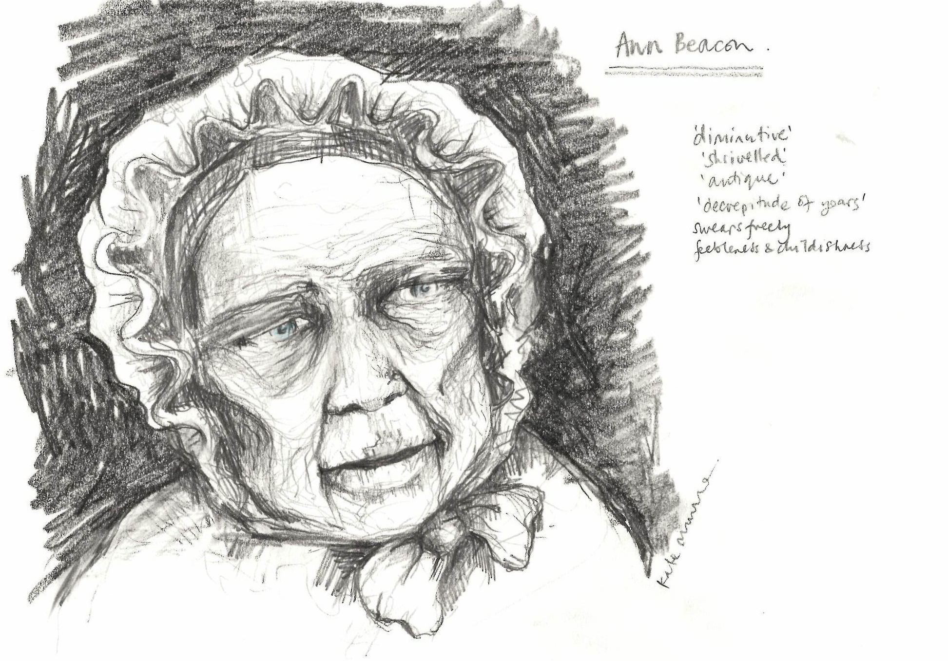 An artist's impression of what Ann Beacon might have looked like. Source: Wellcome Collection. © Wellcome Collection/ Katie Munro .  CC BY