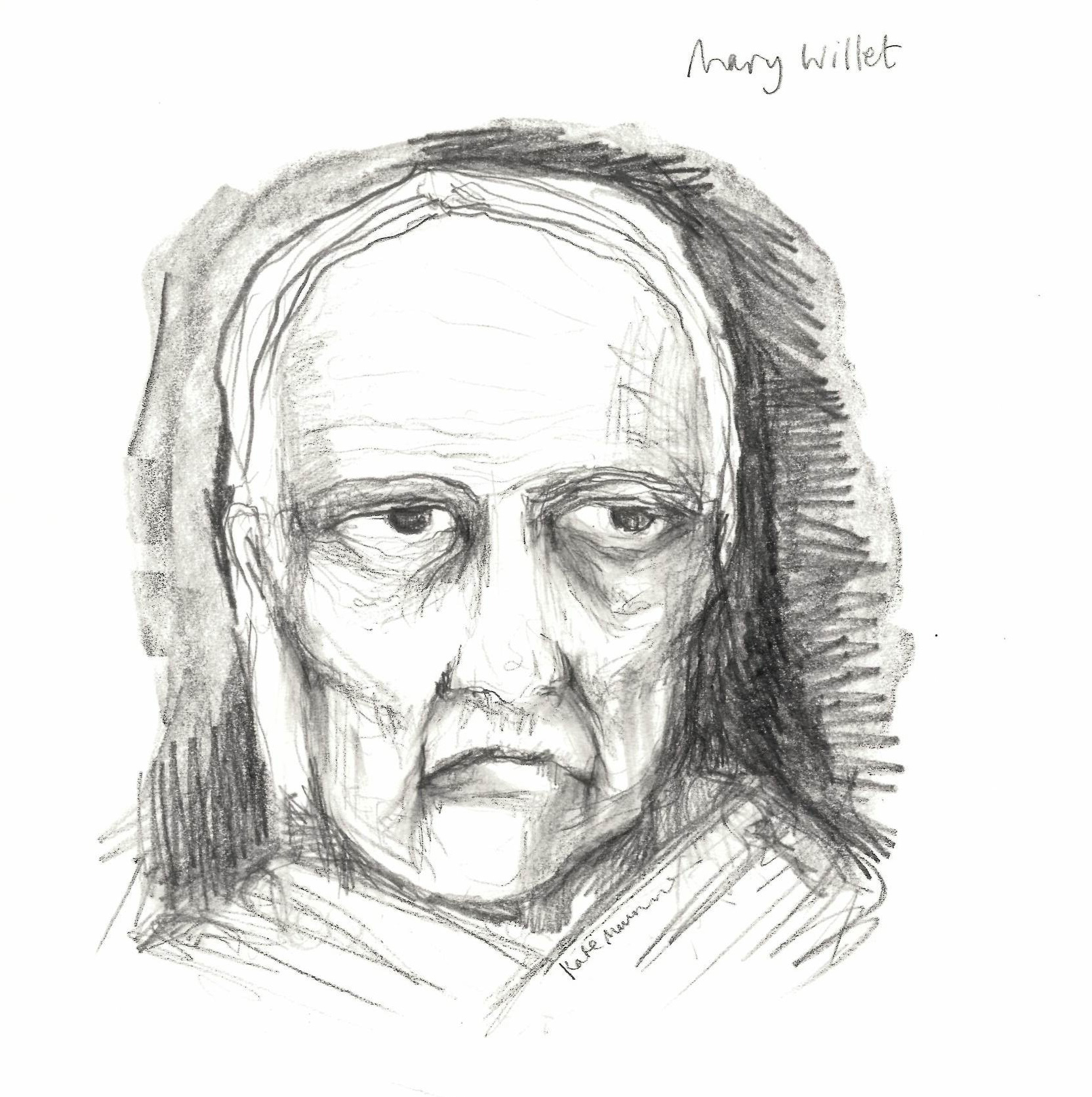 An artist's impression of what  Mary Willet might have looked like. Illustration by Kate Munro. Source: Wellcome Collection. © Wellcome Collection/ Katie Munro .  CC BY