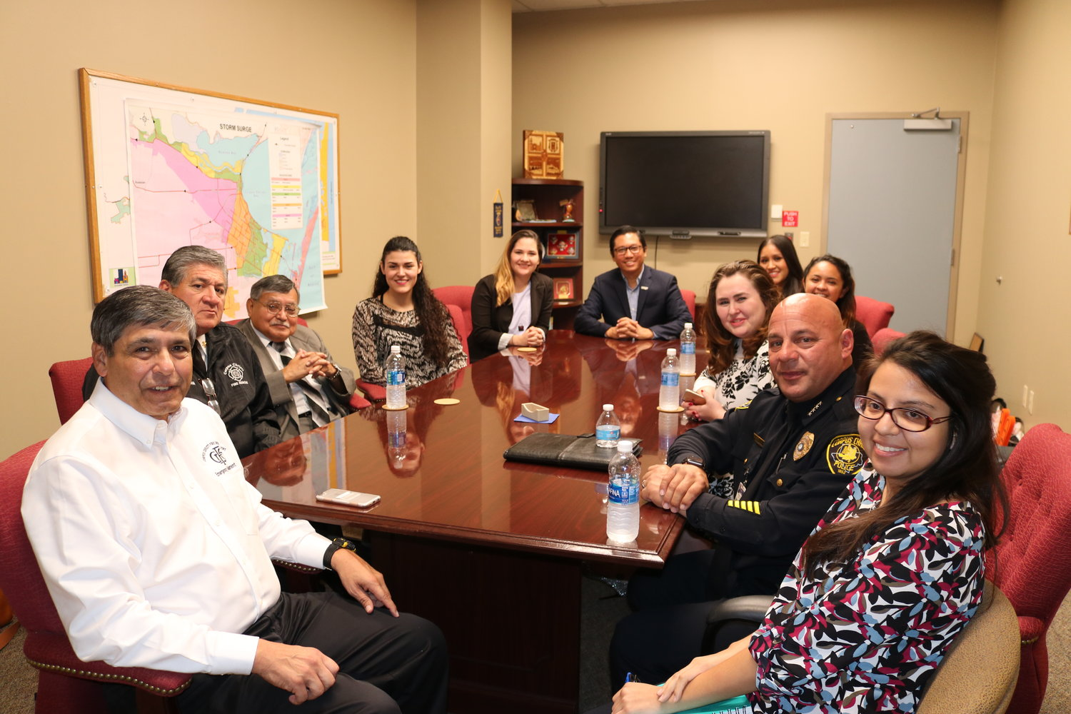 Dr. Dean Kyne and Students at City of Corpus Christi.JPG