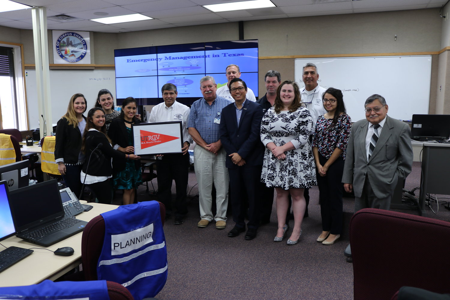 Dr. Dean Kyne and Students at EOC City of Corpus Christi.JPG