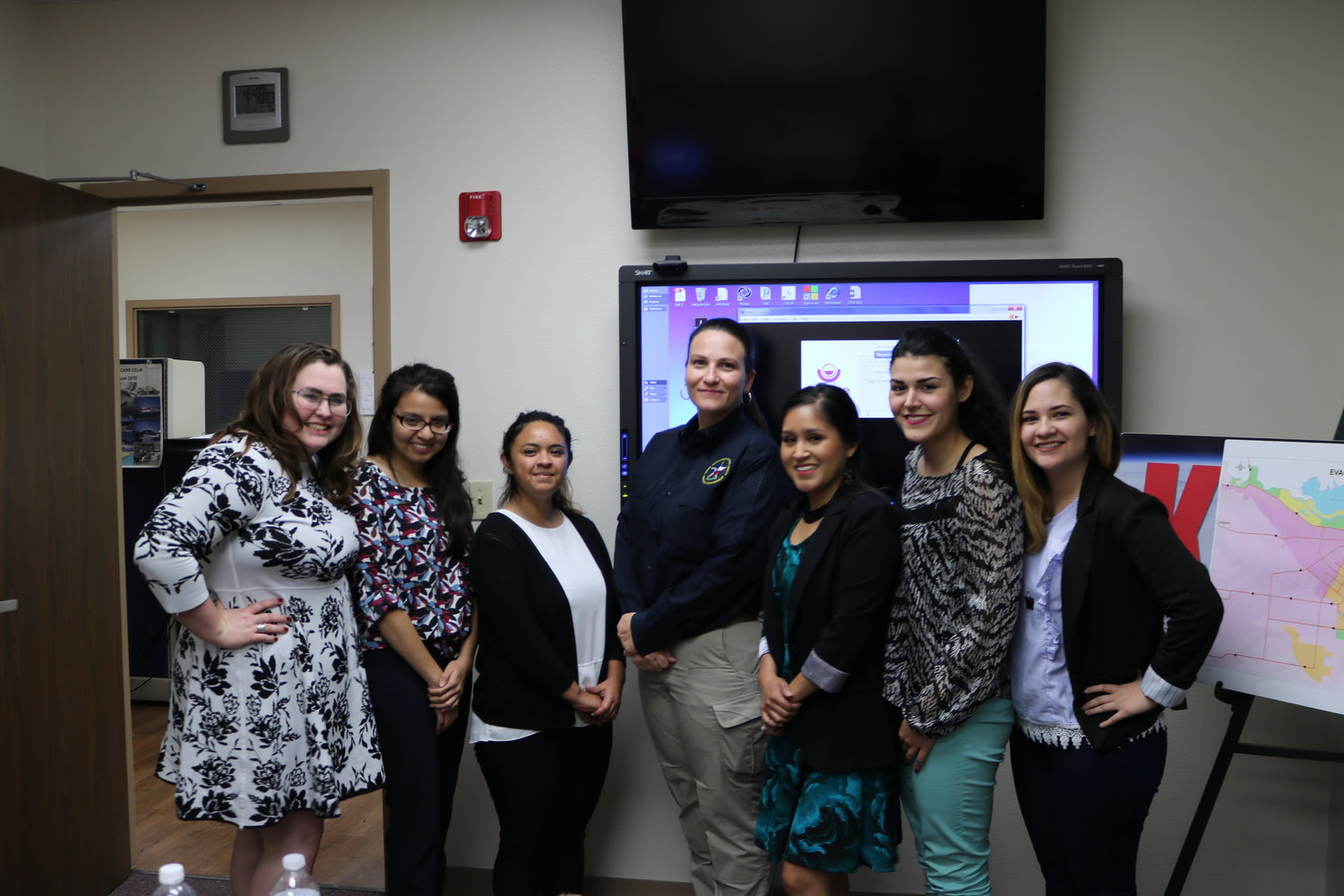 Dr. Dean Kyne and Students at EOC City of Corpus Christi with District Coordinator.JPG