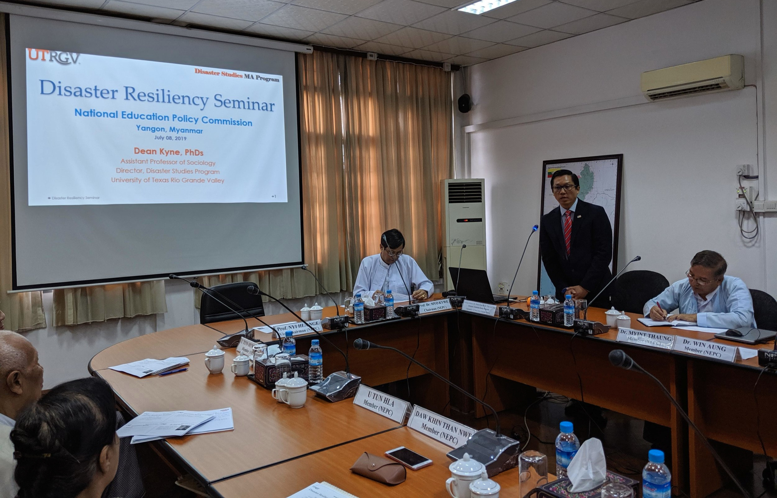 Another seminar on disaster resiliency held at the National education Policy Commission, Yangon, Myanmar on July 8, 2019
