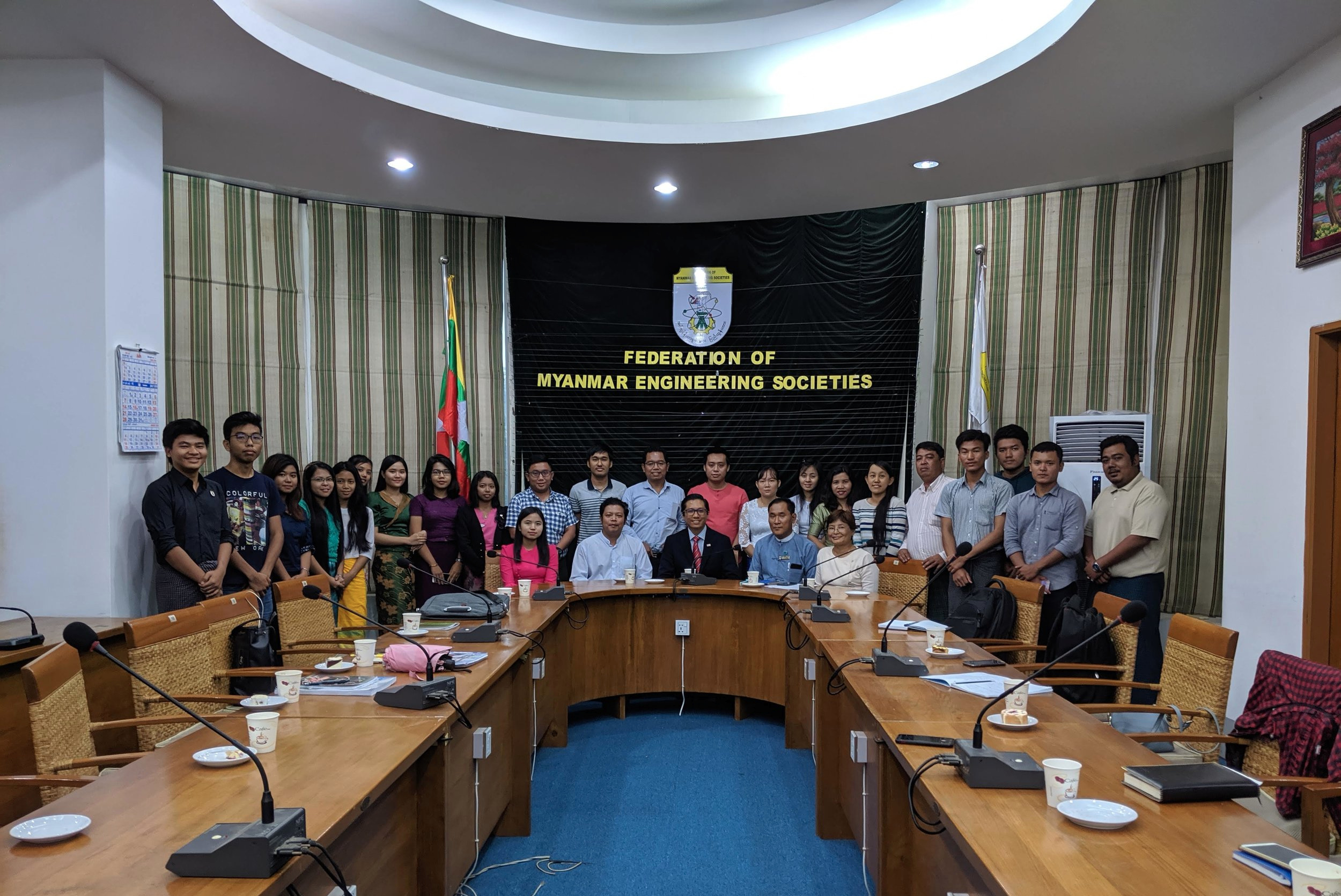 Dr. kyne conducting another seminar on disaster resiliency at the Federation of Myanmar Engineering Societies, Yangon, Myanmar on July 8, 2019.
