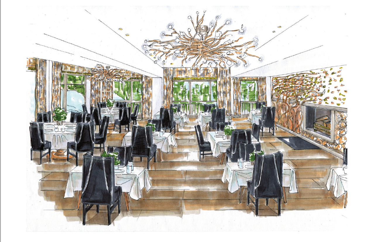 3- Artist Sketch - Restaurant Le 1850 Be Organic.png