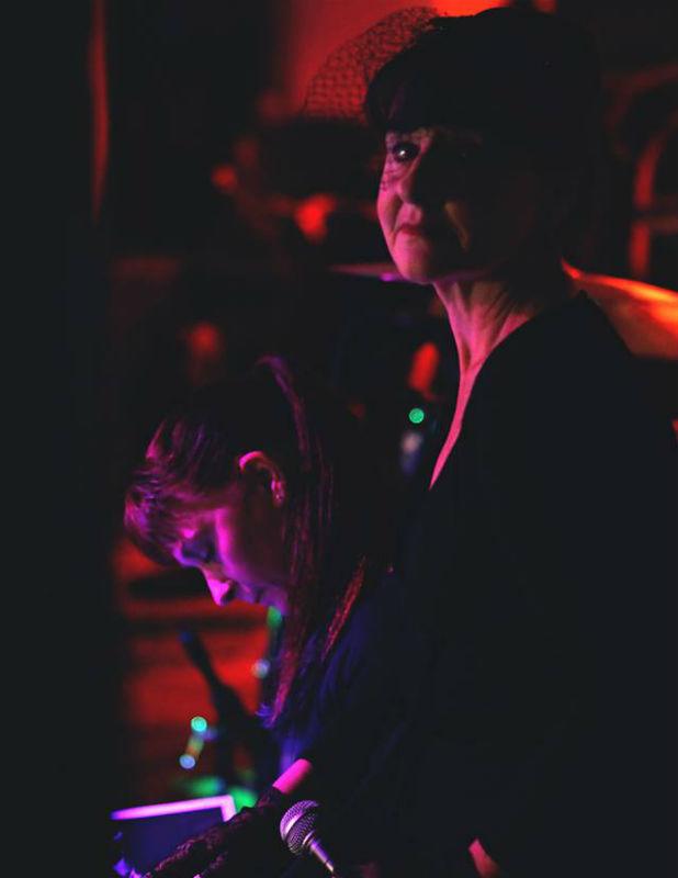 Dancer Star, left, and Elaine Claxton.