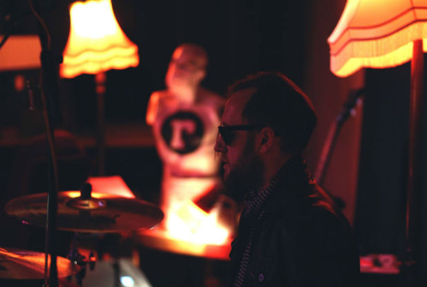 Drummer and artist Liam Jolly.