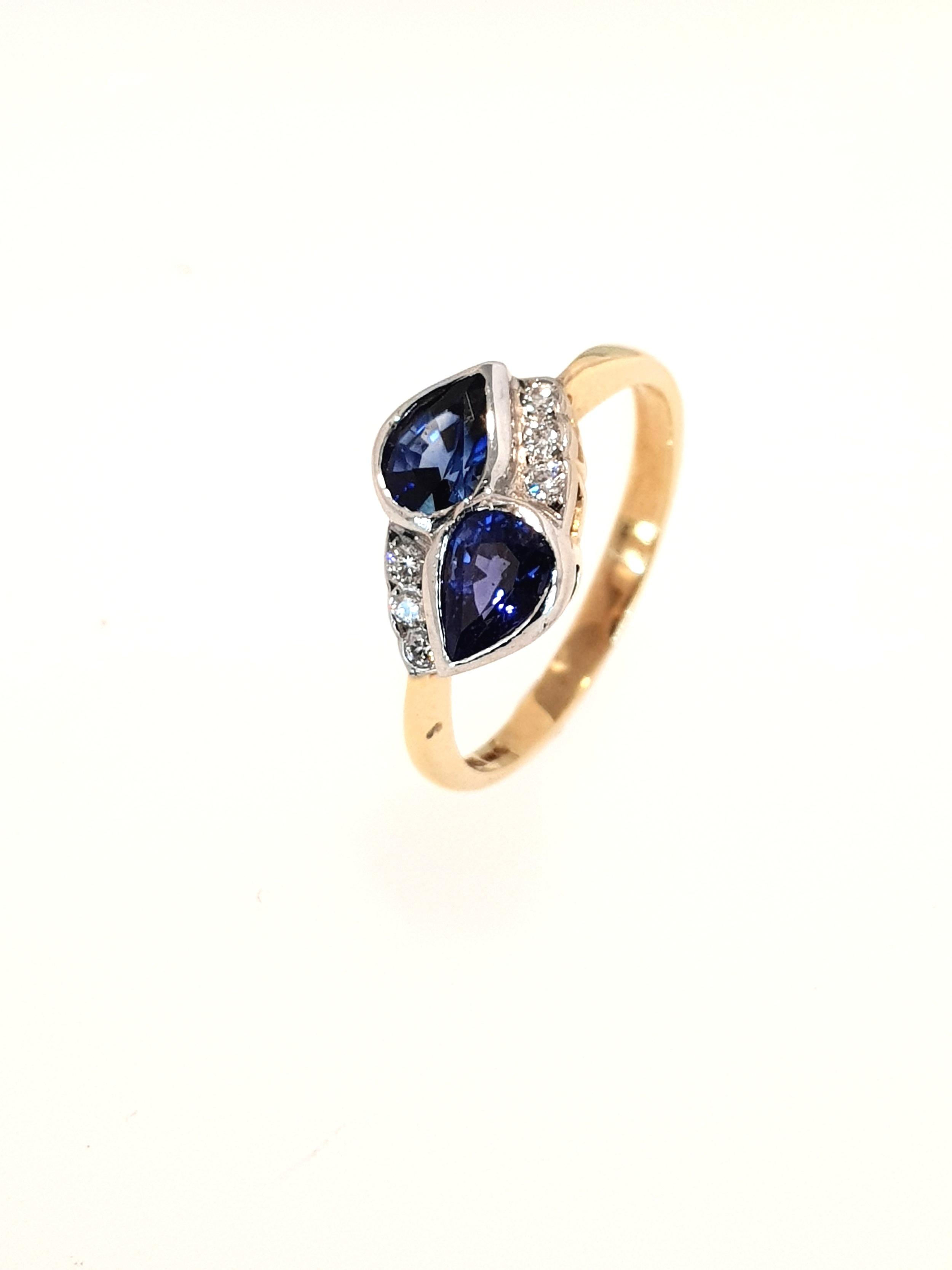 18ct Yellow Gold Sapphire & Diamond Ring  Stock Code: N8925  £1350