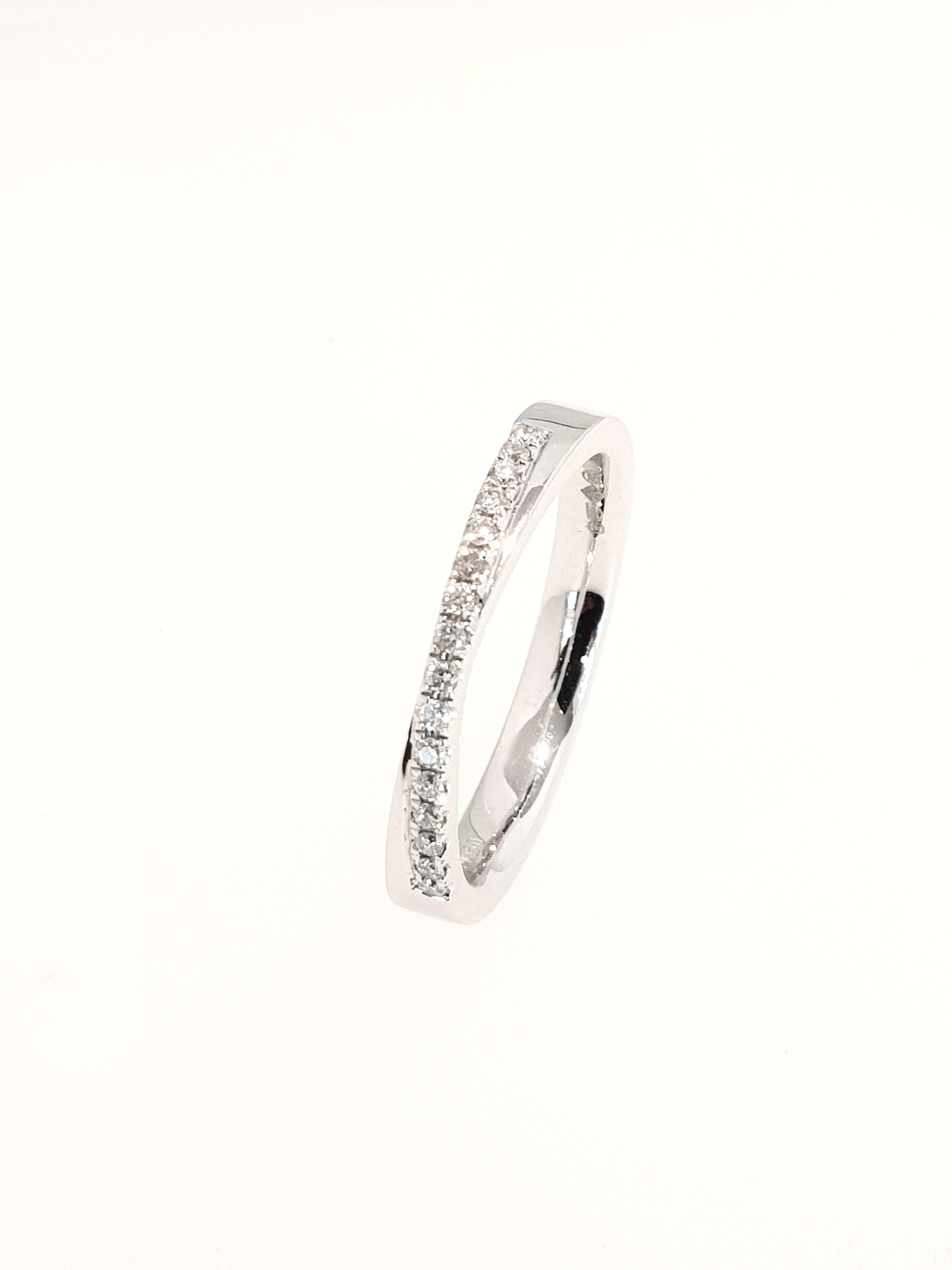 Platinum Eternity Ring  .16ct x 16  Stock Code: N8700  £1550