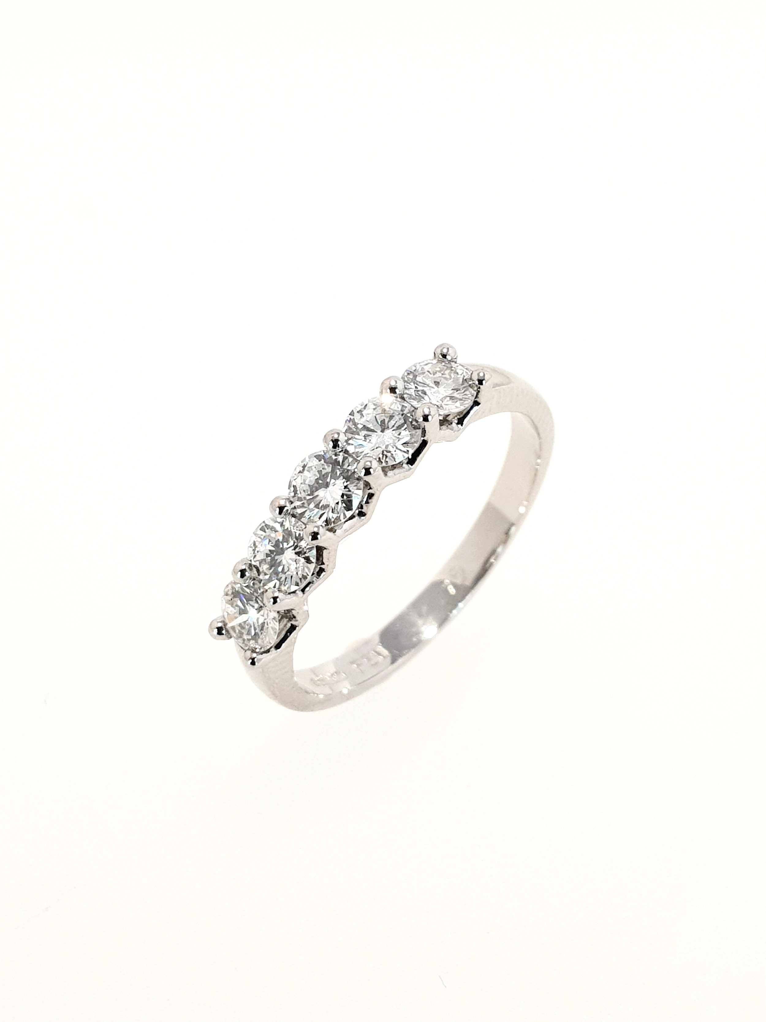Platinum 5 Stone Eternity Ring  .75ct, H, SI1  Stock Code: N8935  £2500