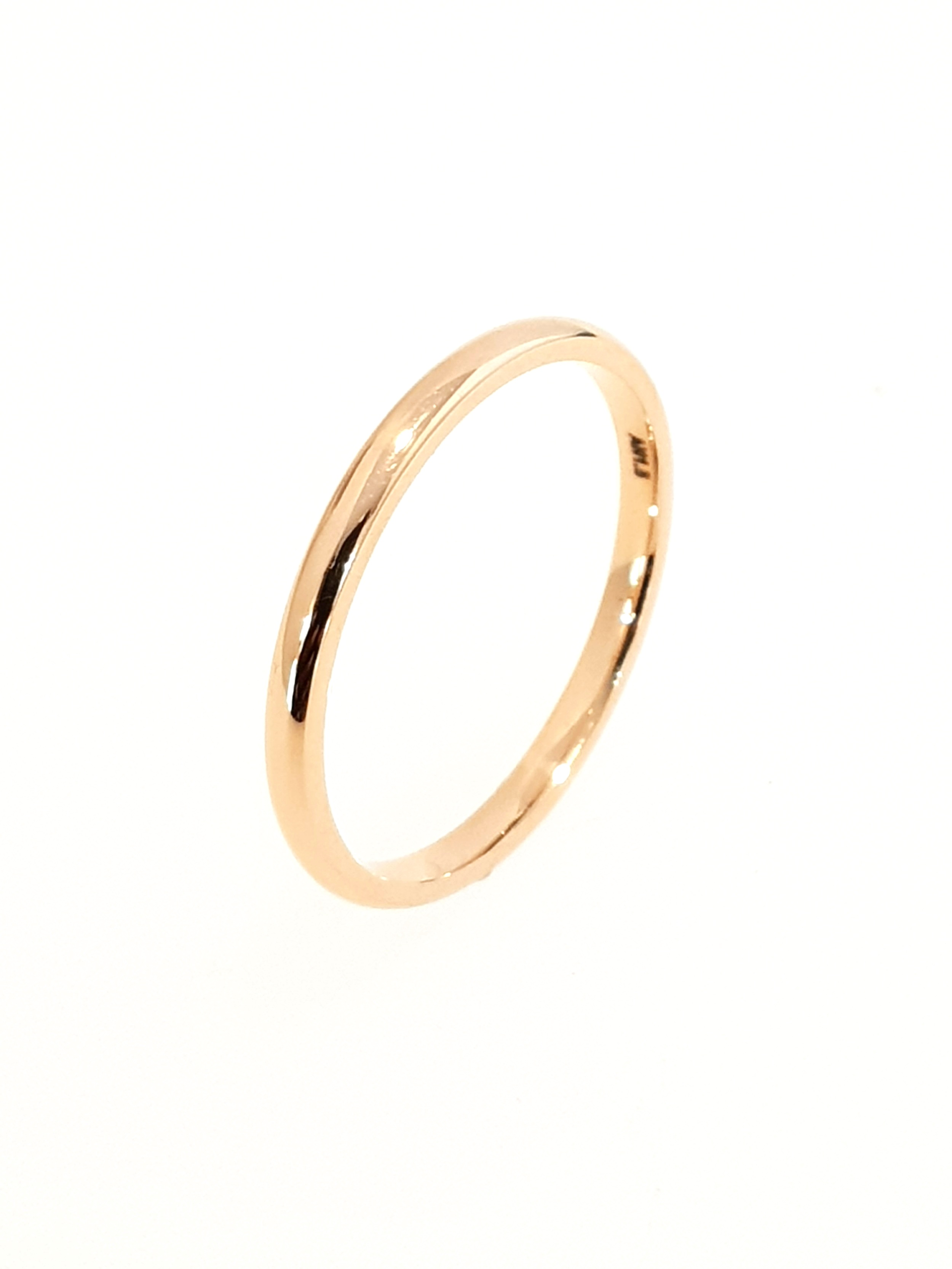 18ct Rose Gold Thin Band
