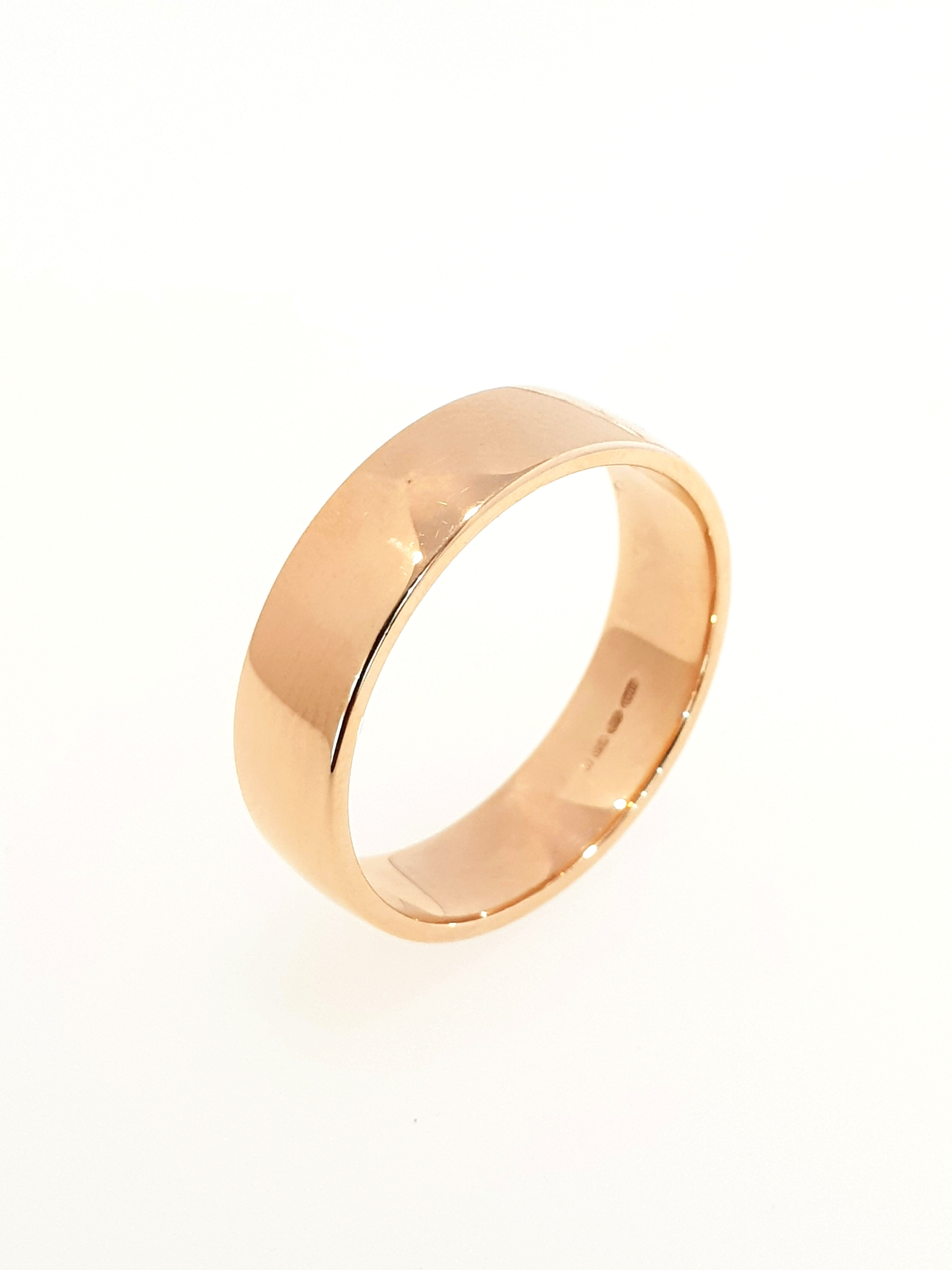 18ct Rose Gold Band