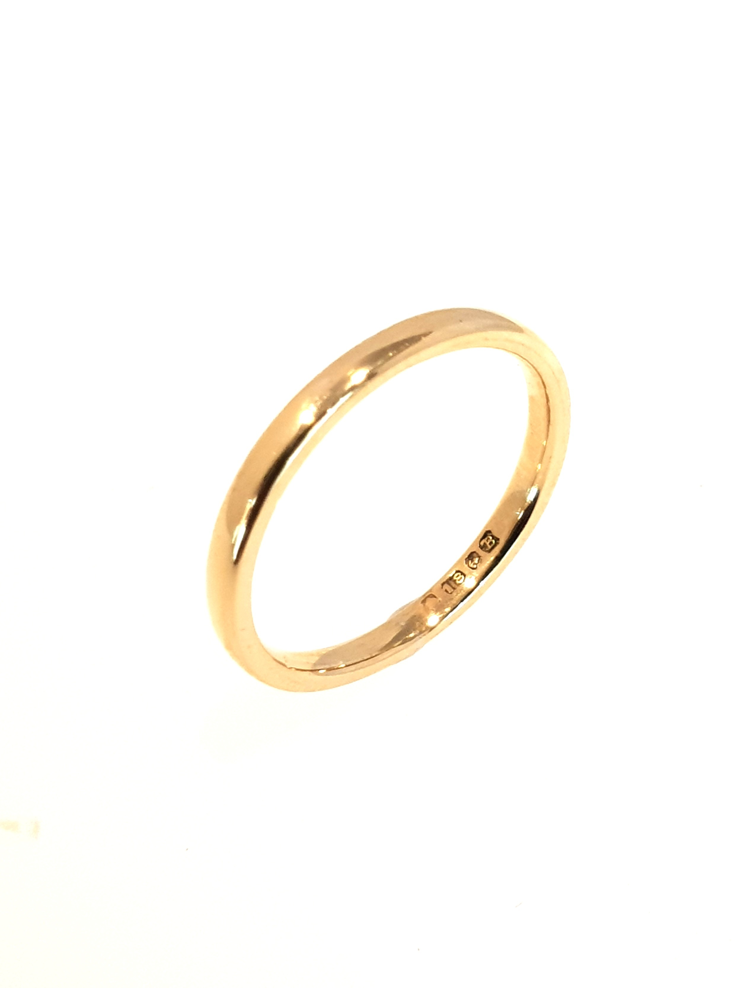 18ct Yellow Gold Narrow Band   Stock Code: Y833  New Price: £270   Pre-Owned Price: £135