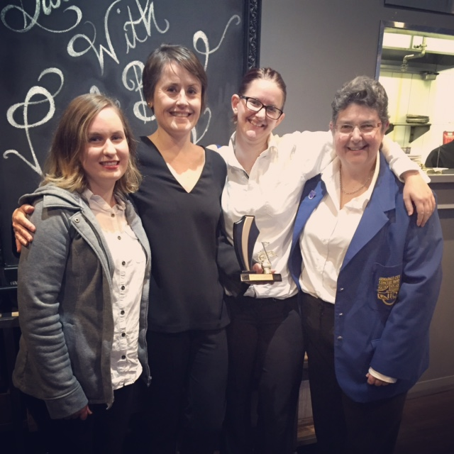 L-R: Kayla Chester, Amanda Johnson, Jemma Hart and Robyn Hukin (2016)