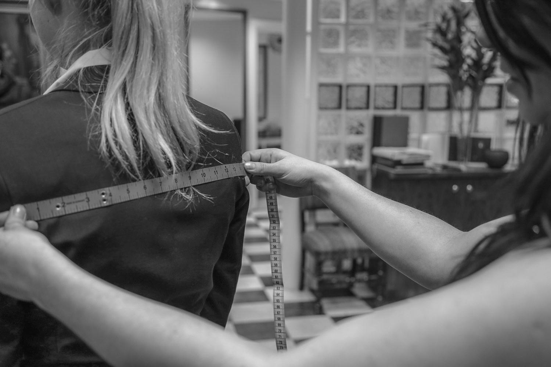 Measuring a client for bespoke, Paul Henry Tailoring .jpg