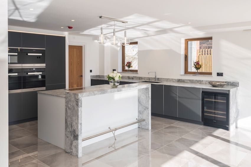 Stormer kitchen, integrated appliances supplied by Hehku