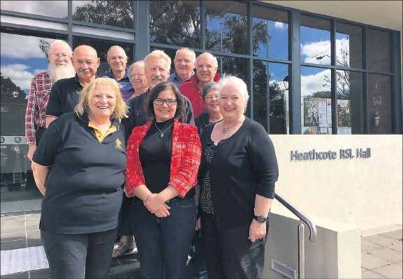 Heathcote community members joined Lisa Chesters and Sherrie Coote to make an exciting announcement last week regarding upgrade funding for Heathcote RSL Hall.
