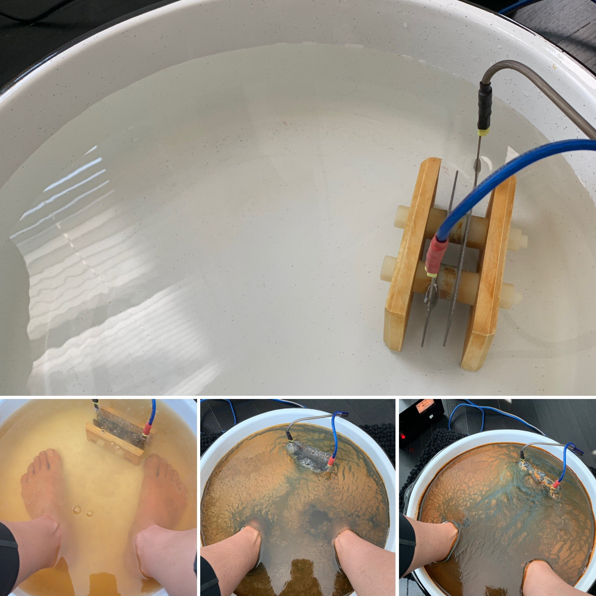 This is the process of the ionic foot bath from start to finish