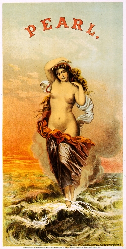 In 1871, Pearl Tabacco was one the first brands to use sexual content in their advertising.