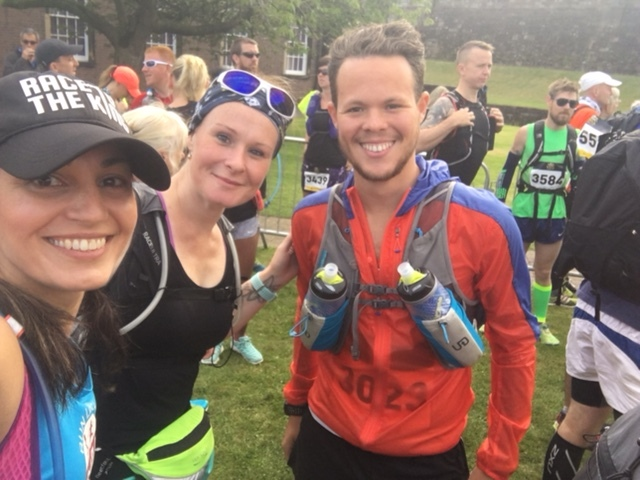 The obligatory start line selfie with Fee and Alex